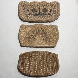 Vintage set of three beaded bags